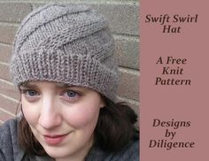 """""""This is a fast and easy intermediate hat pattern. With any worsted weight yarn you can make this hat easily while watching the t.v. There are no yarn overs or decreases while working on the body of the hat, only knit stitches and right twists. All together this hat will take about 3 hours to make. It is also easy to adjust this pattern to make the fit you want, just add or take away 11 stitches."""""""