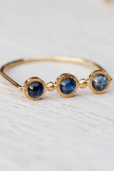 You'll feel anything but blue while wearing this sapphire ring