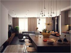 Известный архитектор Александра Федорова рассказала нам об одной из своих работ, так что теперь мы знаем все секреты загадочного, строгого и стильного интерьера квартиры на Ходынке.