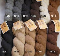 Cascade Eco Alpaca.   100% Natural undyed Alpaca                                    True colours from Mother Nature....