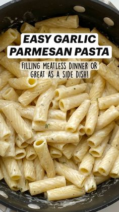 Easy Family Meals, Quick Meals, Garlic Parmesan Pasta, Pasta Sauce Recipes, Good Food, Yummy Food, Keto Foods, Italian Recipes, Recipes