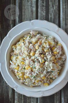 Sałatka z ryżem i wędzonym kurczakiem – Kardamonowy Polish Recipes, Polish Food, Salads, Good Food, Vegetables, Cooking, Breakfast, Al Dente, Diet