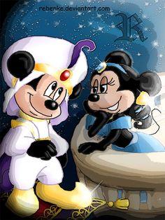 A whole new world-Mickey by ~rebenke