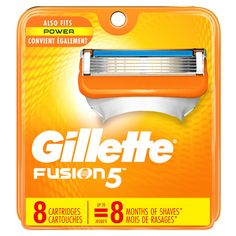 Gillette Men's Razor Blades - 8 Cartridge Refills (Packaging May Vary), Mens Razors / Blades Gillette Razor, Gillette Fusion, Mens Razors, Power Man, Close Shave, Shave Gel, Lame, Smooth Skin, How To Know