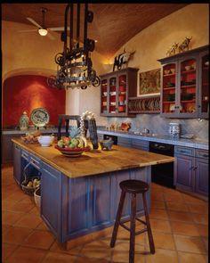 kitchen decor 8 Best And Amazing Spanish Style Bedroom Furniture Design Ideas Mexican Style Kitchens, Mexican Kitchen Decor, Mexican Home Decor, Mexican Style Homes, Spanish Kitchen Decor, Spanish Colonial Kitchen, Hacienda Kitchen, Rustic Kitchen, New Kitchen