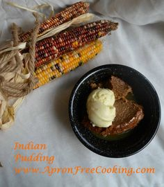 There are some foods that we eat during specific seasons or on certain occasions. Somehow, they don't taste right eaten at a different time of year. I think Indian Pudding is one of those foods. The pumpkin, cinnamon, ginger flavor … Continue reading → Easy Gluten Free Desserts, Desserts For A Crowd, Sugar Free Desserts, Homemade Desserts, Great Desserts, Dessert Recipes, Thanksgiving Recipes, Fall Recipes, Indian Food Recipes