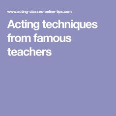 to the actor on the technique of acting pdf