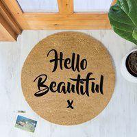 Artsy Doormats Hello Beautiful Circle Door Mat