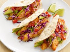 Get Baja Fish Tacos Recipe from Food Network