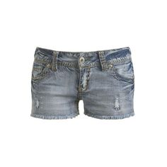 Heavy Stitch Frayed Short - Teen Clothing by Wet Seal ($20) ❤ liked on Polyvore