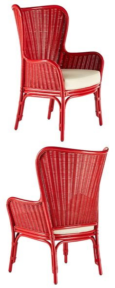 You'll feel like the Queen of the Nile or an Egyptian prince as you relax in this fashionable Oasis Chair. An alluring combination of natural rattan and an imperial-inspired wing design, its sloped edg...  Find the Oasis Chair, as seen in the Glamping in the Tropics Collection at http://dotandbo.com/collections/glamping-in-the-tropics?utm_source=pinterest&utm_medium=organic&db_sku=120737