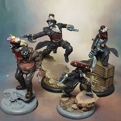 Malifaux Ortega crew. Day of the Dead theme. Cool idea!