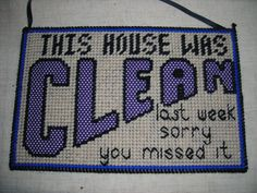 Clean House Sign by HomeHolidayAccessori on Etsy