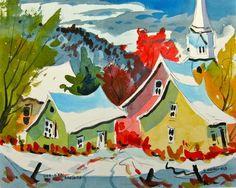 L'Anse-Saint-Jean et le Fjord du Saguenay O Canada, Les Fjords, Saint Jean, Home Art, Saints, Landscapes, Around The Worlds, Barn, Watercolor