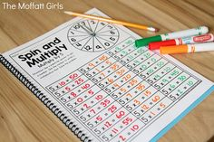 Why can't practicing multiplication facts be fun? Turn math into a game and have your students multiply with the Spin and Multiply NO PREP Packet! Multiplication Activities, Math Fractions, Math Activities, Maths, Math For Kids, Fun Math, Worksheets, Math Graphic Organizers, Singapore Math