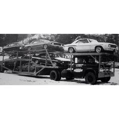 Truck Load of YENKO muscle cars. Would love to been able to have one if these cars.