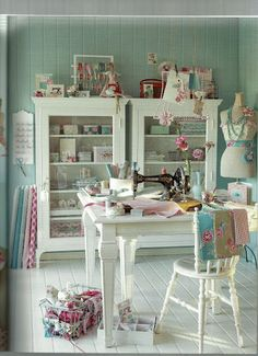 great sewing room from the book of Tilda