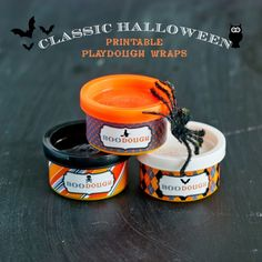 Halloween Printable Playdough Wraps