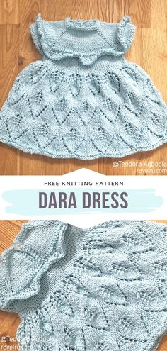 Dara Dress Free Knitting Pattern This Pattern Is So Sweet ; dara dress free strickmuster dieses muster ist so süß ; Baby Knitting Patterns, Free Knitting, Girls Knitted Dress, Knit Baby Dress, Newborn Crochet, Crochet Baby, Learn How To Knit, Baby Sweaters, Free Pattern