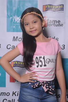 My daughter Gaily at the Mossimo Go See! Hope u make it to the Semi-Finals anak! Good luck! <3