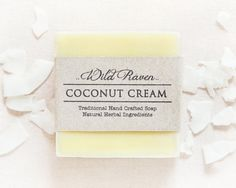 Coconut Cream Soap // Handmade with All Natural Herbal Ingredients // Traditional Cold Process Soap // Vegan & Palm Oil Free // Unscented