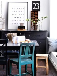 ..loving the dresser in the dining area, would be great for kids craft stuff!