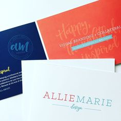 Happy, thoughtful, inspired design for small businesses with big hearts ❤️ Branded Brochure Design for AllieMarie Design ___  AllieMarie Design www.alliemariedesign.com