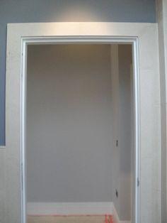 No wooden architrave Architrave, Modern Door, Door Frames, Windows, Doors, Simple, Building, Interior, Furniture