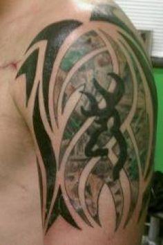 Camo Tattoo Designs And Ideas-Camo Themed Tattoos Camo Tattoo, Browning Tattoo, Sick Tattoo, Deer Tattoo, Browning Symbol, Browning Deer, Black Tattoos, Body Art Tattoos, Tribal Tattoos