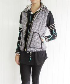 GroopDealz | Herringbone Quilted Puffer Vest #groopdealz #herringbonevest