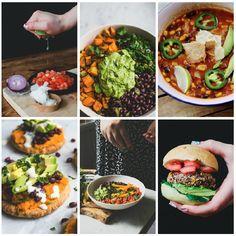 vegan - vega weekmenu met mexicaans thema! Vijf makkelijke, lekkere veganistische gerechten zoals een mexicaanse salade, bonenburger, tortilla soep