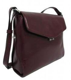 Claudio Ferrici Lederumhängetasche weinrot Überschlag - Bags & more Backpacks, Bags, Fashion, Leather Cord, Wine, Sachets, Handbags, Moda, Fashion Styles