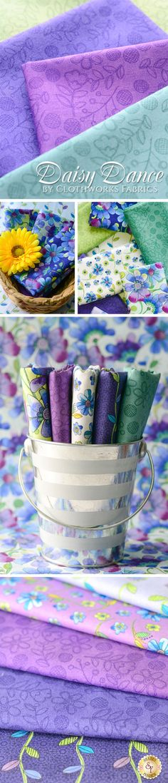 Daisy Dance by Sue Zipkin for Clothworks Fabrics is a beautiful fabric collection available at Shabby Fabrics