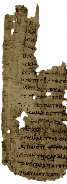 Papyrus manuscript of the Epistle to the Romans, it contains Romans 8:12-22.24-27; 8:33-9:3.5-9. Found in Egypt, dates from around 250 AD and is located at the Cambridge University Library in the England.
