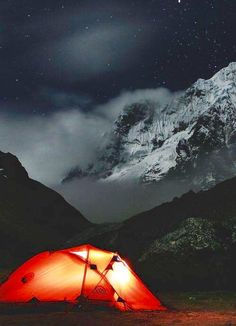 Camping in Joshimath , Uttarakhand , India.