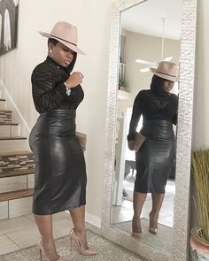 My interpretation is clearly different! ✔️🎩 Two Posh Chicks started it! SHOP this gorgeous mesh bodysuit using code KING for Curvy Girl Fashion, Black Women Fashion, Look Fashion, Plus Size Fashion, Autumn Fashion, Womens Fashion, Fashion Trends, 50 Fashion, Fashion 2018
