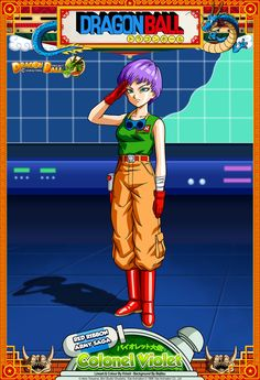 Dragon Ball - Colonel Violet by DBCProject.deviantart.com on @DeviantArt