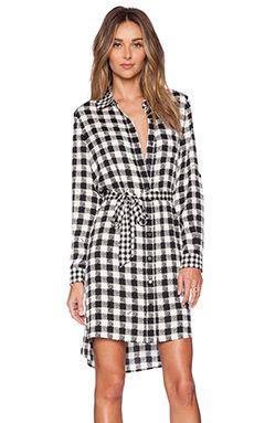 Diane von Furstenberg Prita Dress in Black & White Gingham