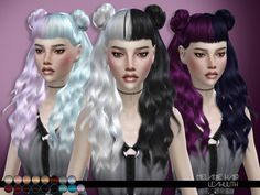 Sims 4 CC's - The Best: LeahLillith Melanie Hair