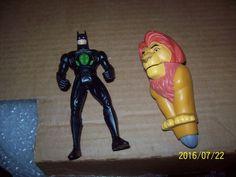"""1980-2001m 5in., Boys, Collect D.C Comics 5"""" Batman Figure w/ McD Lion King Toys…"""