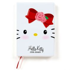 Hello Kitty B6 Size Diary Day Planner Notebook 2016 Magnet Closure SANRIO Made in JAPAN