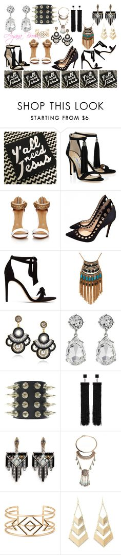 """""""Won't He do it"""" by ayanabrown on Polyvore featuring Gianvito Rossi, Alexandre Birman, Leslie Danzis, Kenneth Jay Lane, Tom Ford, Lulu Frost, Stella & Dot and Charlotte Russe"""