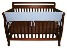 "$21.24-$21.95 Baby Trend-Lab Crib Wrap Rail Guard for Long Rail, Blue Fleece - Trend Lab CribWrap Convertible Crib Long Rail Cover BlueBlue Fleece CribWrap Convertible Crib Rail Cover-51""-for use on front rail. Protect your baby, and protect your crib investment from teeth marks. Just wrap and tie on. Safer solution is lightly padded with a waterproof layer. Machine washable in super soft Sherpa ..."