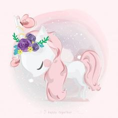 Cute rabbit floating on hot air balloon and birds hand drawn cartoon illustration Vector Unicorn Drawing, Unicorn Art, Unicorn Gifts, Cute Unicorn, Unicorn Illustration, Cute Illustration, Cartoon Illustrations, Cute Animal Drawings, Cute Drawings