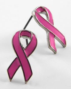 Pink Ribbon Earrings - Breast Cancer Awareness