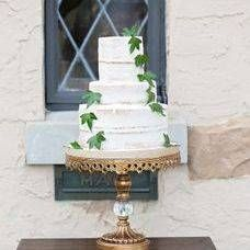Cakes by Kim // custom bakery // specializes in wedding cakes and dessert tables. // gold cake stand by Opulent Treasures