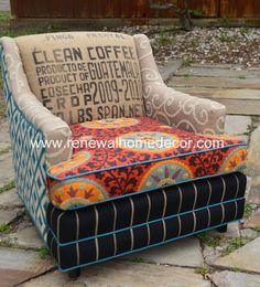 """Vintage Upholstered Chair - """"The Fiesta Chair"""""""
