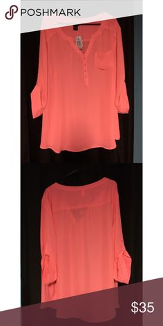 BRAND NEW with tags!! Torrid 3 Bright Pink Shirt BRAND NEW WITH TAGS Torrid size 3 Bright Pink professional top. Very summery color. Really will add a pop of color to your wardrobe! torrid Tops Button Down Shirts