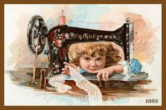 Olde America Antiques | Quilt Blocks | National Parks | Bozeman Montana : SEWING and QUILTING QUILT BLOCKS - Young Girl and Singer