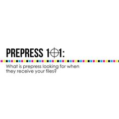 What do those prepress techs inspect in your print files? Get an inside peak into the prepress process from Print Geek @tini106!